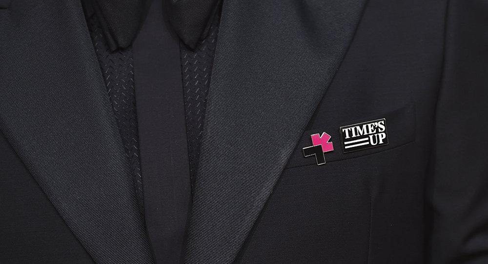 شعار حركة Time's Up المناهضة للتحرش الجنسي
