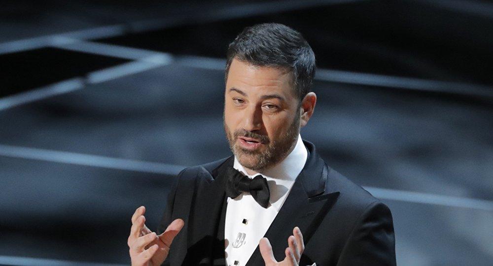 جيمي كيمل في حفل توزيع جوائز الأوسكار الـ 90 في 4 مارس/آذار 2018 في لوس أنجلوس في ولاية كاليفورنيا الأمريكية