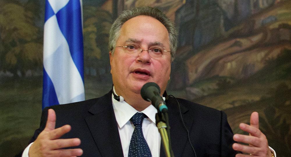 وزير خارجية اليونان نيكوس كوتزياس