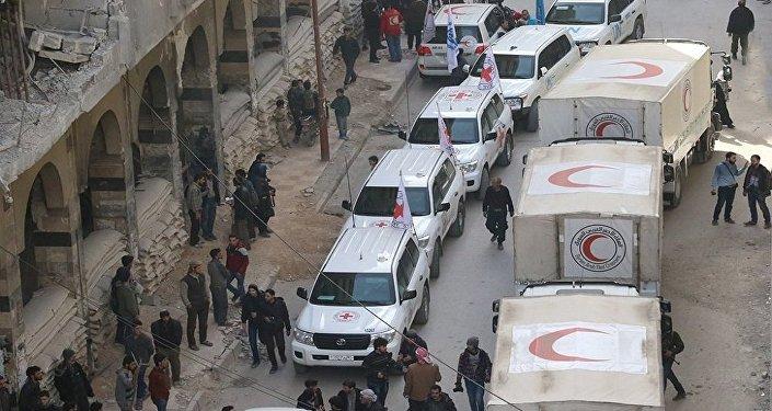 المساعدات الإنسانية في الغوطة الشرقية