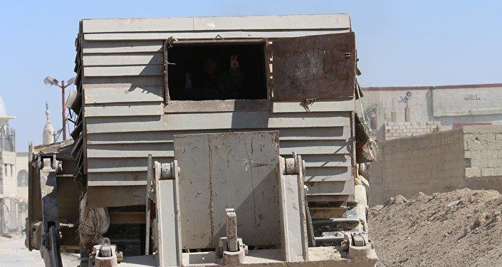 آلية استخدمها الجيش السوري في الغوطة