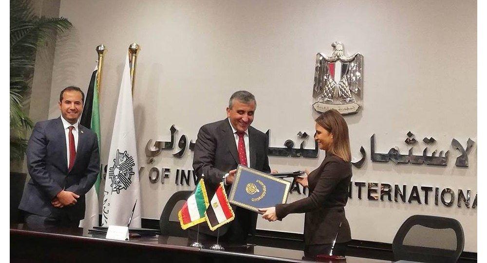 وزيرة الاستثمار والتعاون الدولي المصرية والمدير العام للصندوق الكويتى للتنمية الثلاثاء 13 مارس/ آذار.