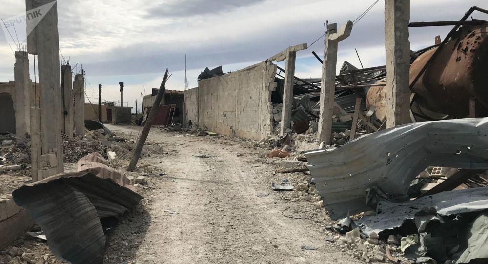 قوات الجيش السوري عند تحرير الشيفونية في الغوطة الشرقية، سوريا