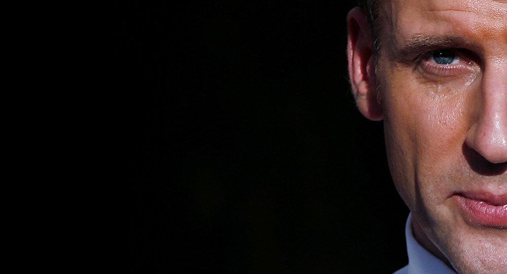 الرئيس الفرنسي إيمانويل ماكرون في باريس، فرنسا 10 مارس/ آذار 2018