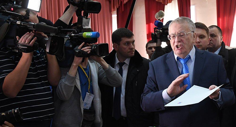 فلاديمير جيرينوفسكي يشارك في الانتخابات الرئاسية الروسية