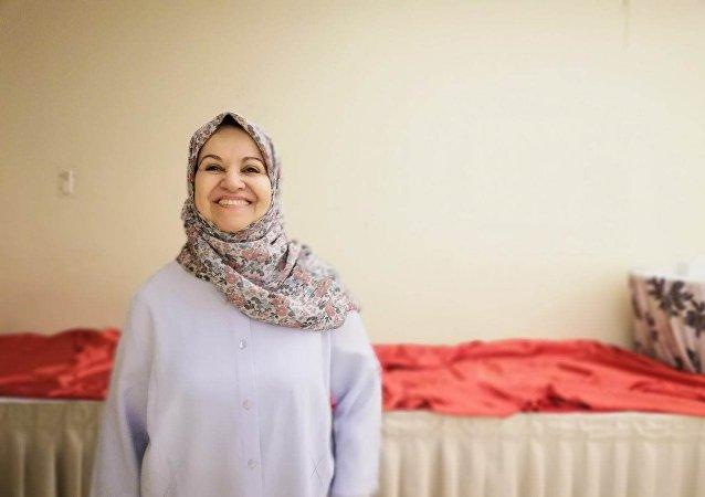 رئيسة الجمعية المصرية للرسوم المتحركة رشيدة الشافعي في مهرجان الأقصر السابع للسينما الأفريقية