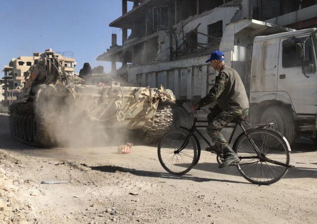 تحرير الجيش السوري لبلدة كفربطنا في الغوطة الشرقية، سوريا