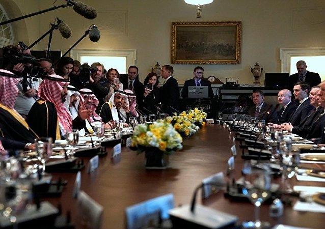 دونالد ترامب مع محمد بن سلمان