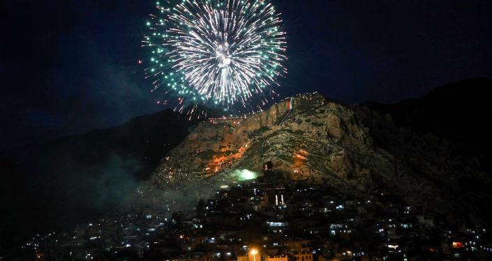 الاحتفال بعيد النوروز في مدينة أكرا، العراق 21 مارس/ آذار 2018