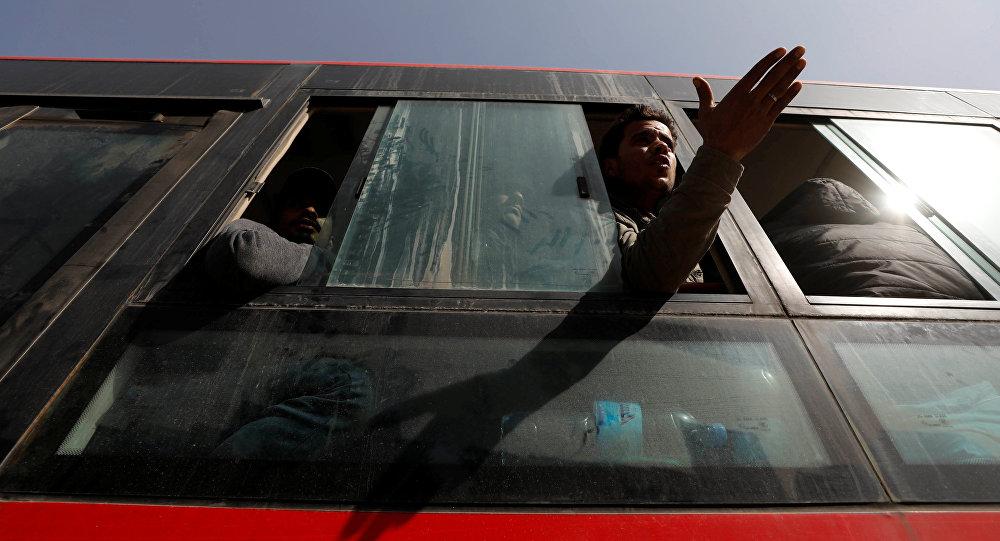 خروج المسلحين من الغوطة الشرقية