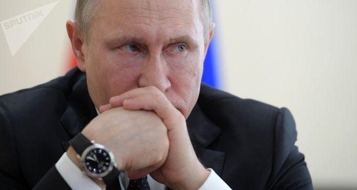 الرئيس فلاديمير بوتين في كيميروفو، روسيا 27 مارس/ آذار 2018