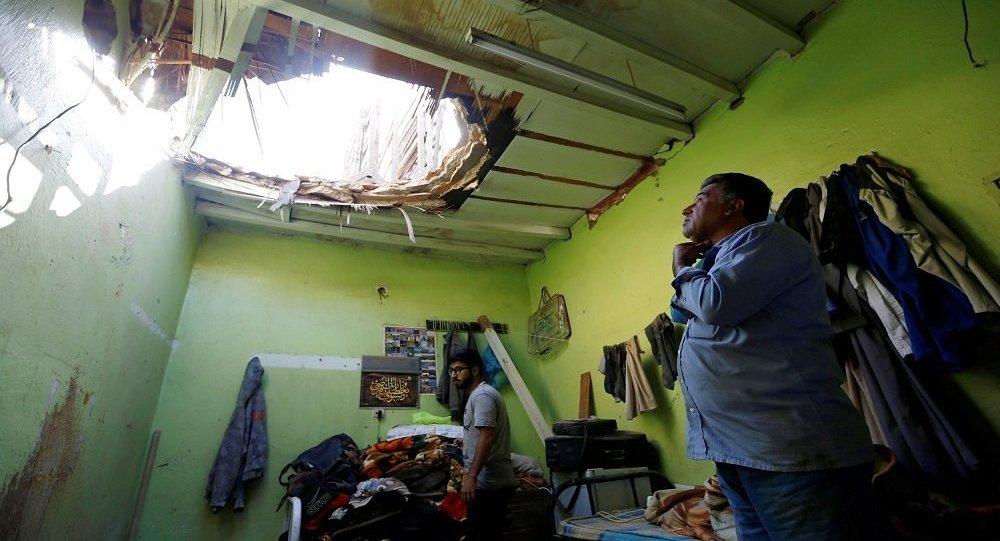 منزل المواطن المصري الذي استهدفه صاروخ الحوثي في السعودية