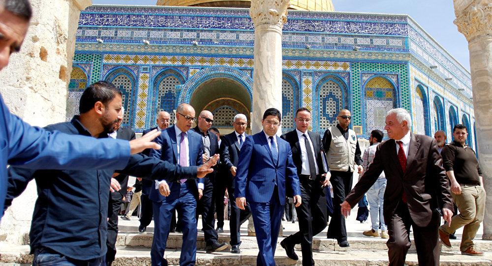وزير خارجية المغرب في جولة في المسجد الأقصى