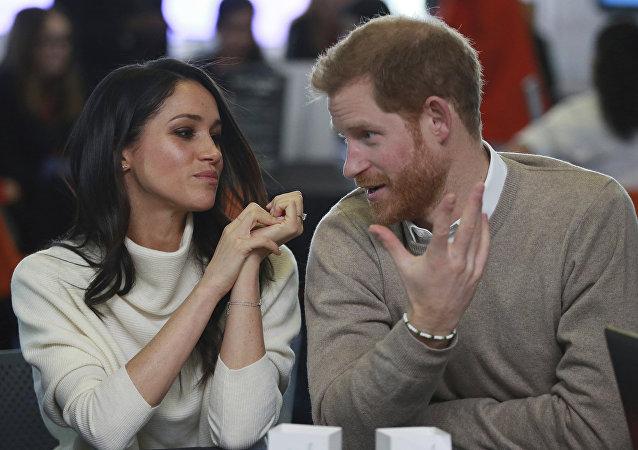 نجل ولي العهد البريطاني الأمير هاري وخطيبته الممثلة الأمريكية ميغان ماركل