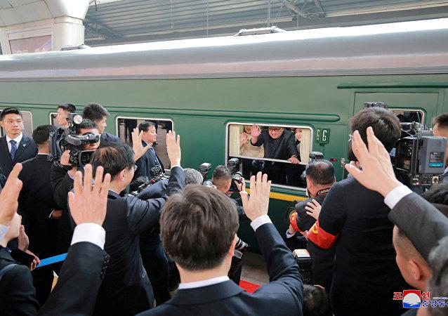 قطار الزعيم الكوري الشمالي