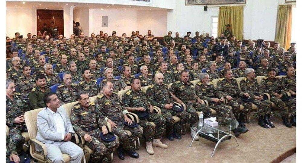 قادة وضباط الأمن المركزي بصنعاء