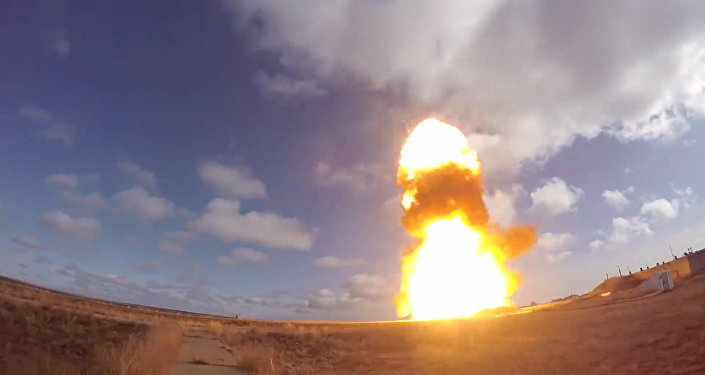 اختبار منظومة الدفاع الصاروخي في كازاخستان