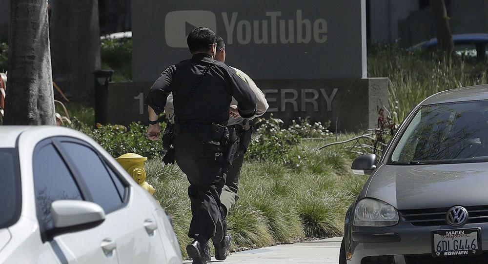 الوضع بالقرب من مقر يوتيوب في كاليفورنيا