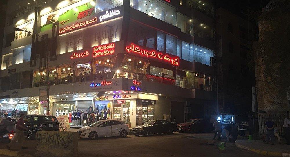 مقهى قهوة وكتاب في بغداد