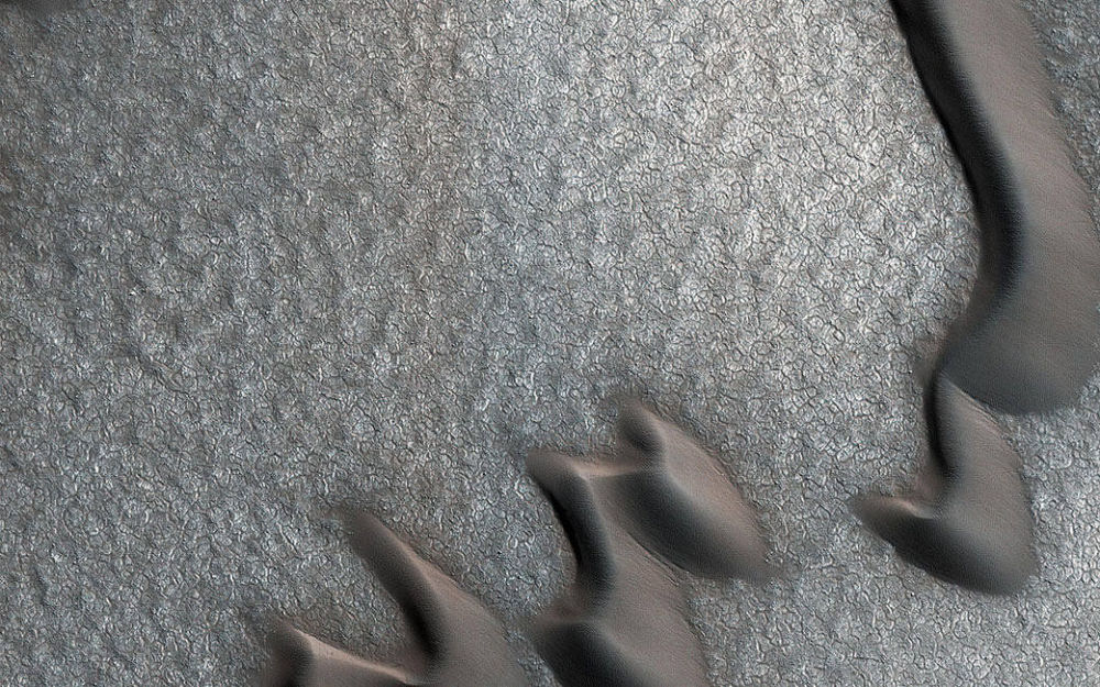 الكثبان الرملية على كوكب المريخ