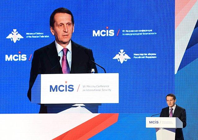 مدير الإستخبارات الروسية سيرغي ناريشكين في مؤتمر الأمن الدولي