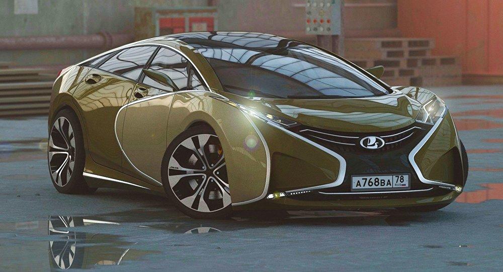 تصميم حديث لسيارة لادا الروسية