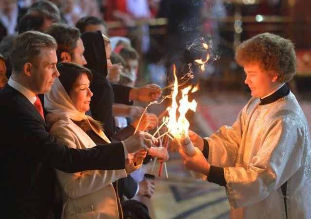 النار المقدسة في موسكو
