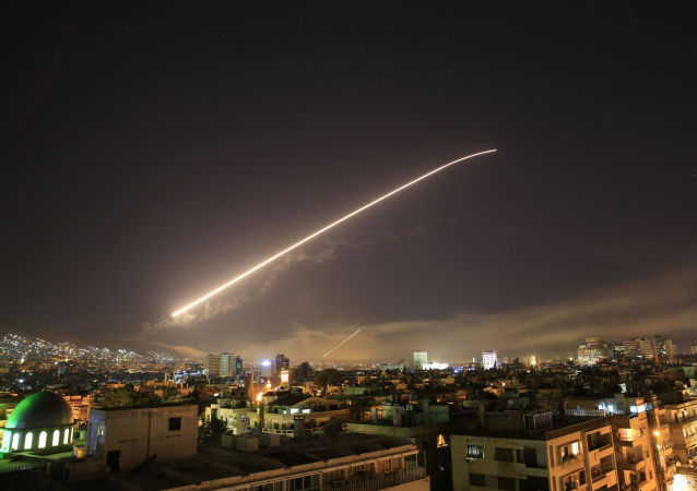 هجوم الولايات المتحدة وحلفائها بريطانيا و فرنسا على دمشق ليلة 14 أبريل/ نيسان 2018
