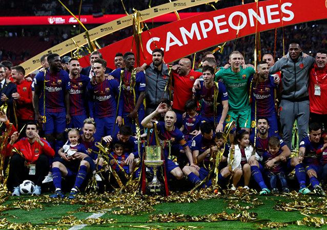 برشلونة بطل كأس إسبانيا 2018
