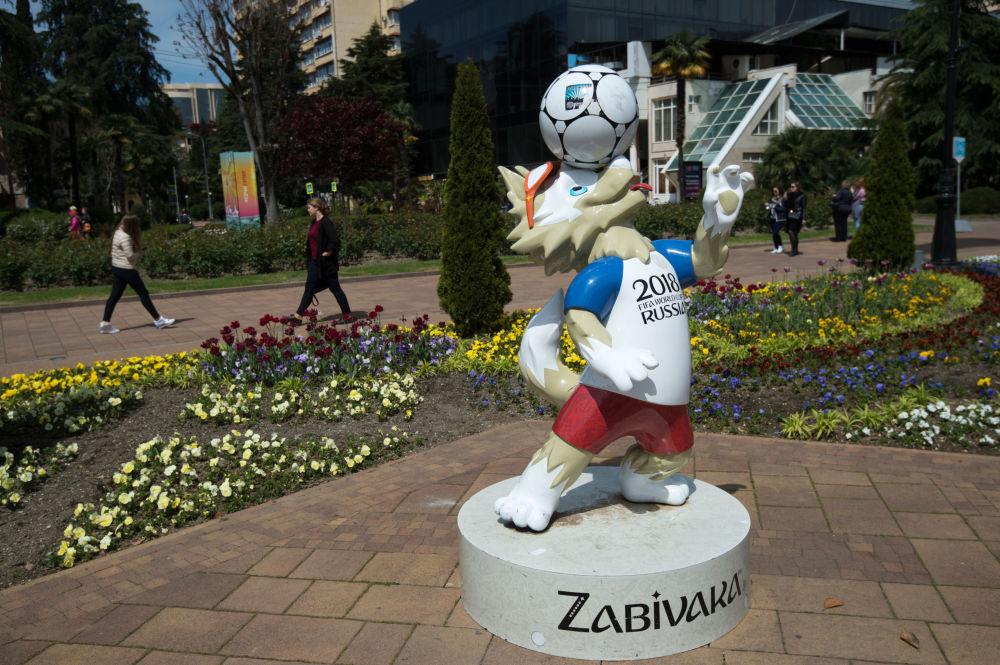 تمثال زابيفاكا تميمة كأس العالم 2018