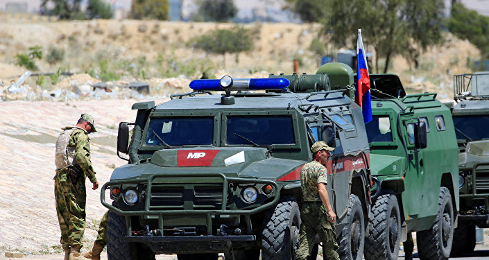 عربات الشرطة العسكرية الروسية في سوريا