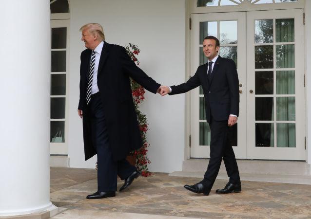 زيارة الرئيس الفرنسي إيمانويل ماكرون إلى واشنطن، الولايات المتحدة الأمريكية، 24 أبريل/ نيسان 2018