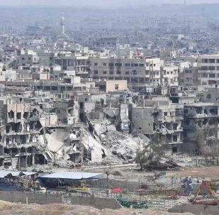 الوضع في سوريا - الجشيش السوري في مخيم يرموك للاجئين الفلسطينيين في ضواحي العاصمة دمشق، سوريا