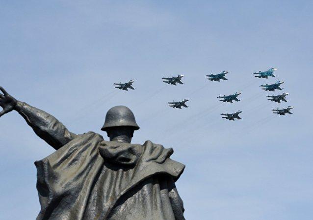 الجزء الجوي من العرض العسكري
