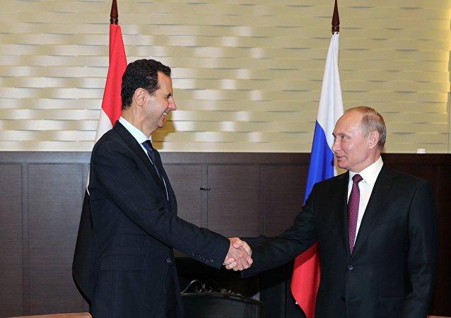 الرئيس بوتين يستقبل الرئيس الأسد في سوتشي