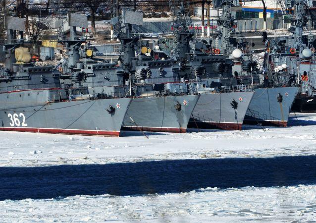 سفن أسطول المحيط الهادئ ألباتروس في فلاديفوستوك
