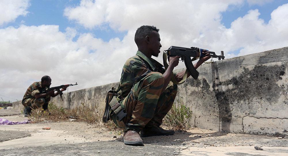 عناصر من القوات المسلحة في الصومال