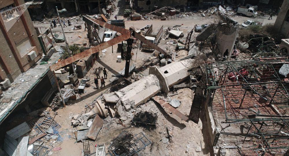 مخيم اليرموك بعد تحريره من إرهابيي تنظيم داعش، سوريا