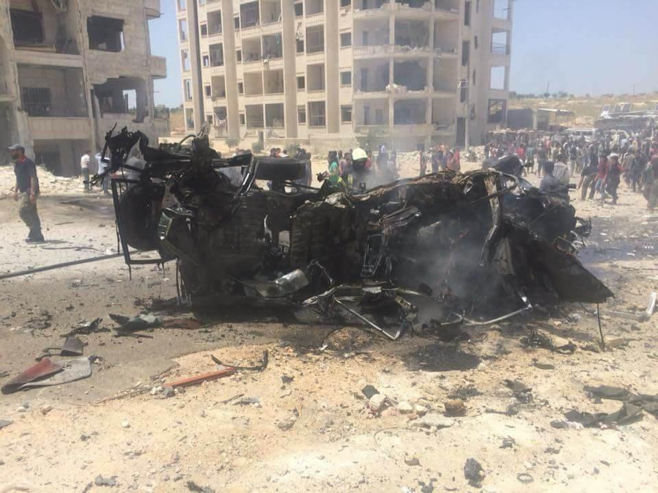 انفجار سيارة في مواقع الصينيين والأوزبك في إدلب