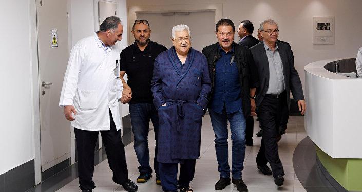 الرئيس الفلسطيني محمود عباس في المستشفى