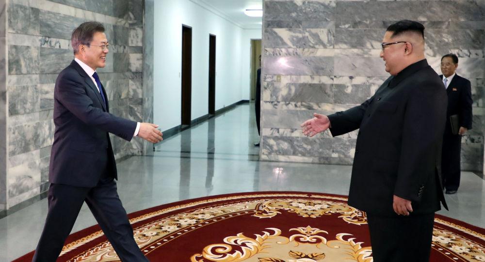 اللقاء الثاني لزعيم كوريا الشمالية كيم جونغ أون ورئيس كوريا الجنوية مون جيه-إن، 26 مايو/ أيار 2018