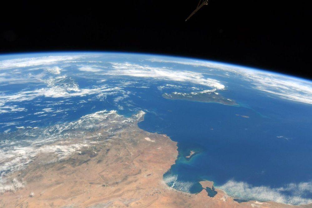 صورة التقطها رائد الفضاء الروسي أنطون شكابليروف لساحل تونس وجزيرة صقلية وجزيرة مالطا من مركبة الفضاء الدولية نايا
