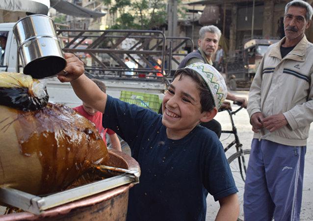 شراب عرق السوس في دمشق خلال شهر رمضان