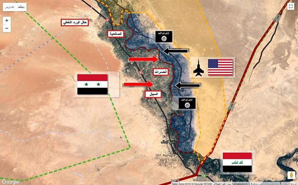 الموجات الداعشية المتدفقة من مناطق السيطرة الجوية الأمريكية شرق الفرات