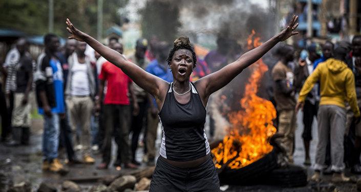 اضطراب ما بعد الانتخابات في كينيا، للمصور لويس تاتو من إسبانيا