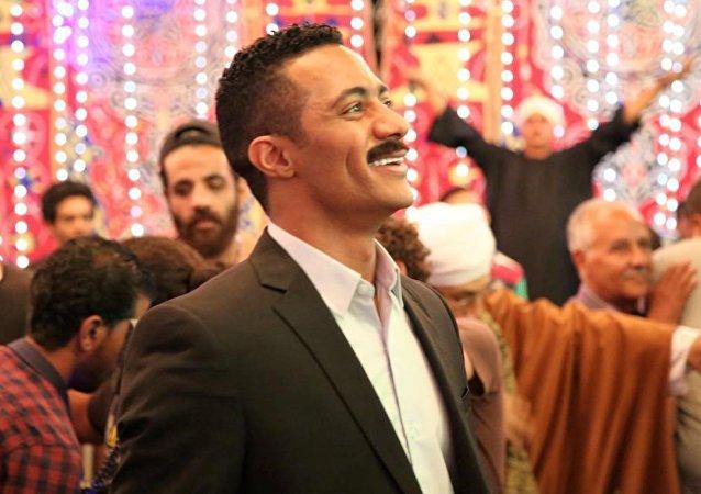 الممثل المصري محمد رمضان في مسلسل نسر الصعيد