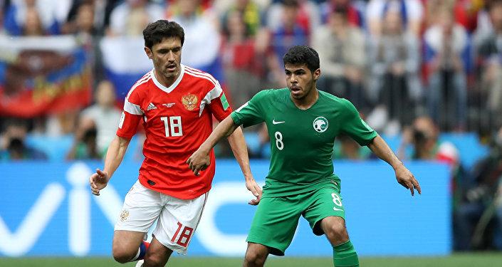 مباراة منتخب روسيا والسعودية