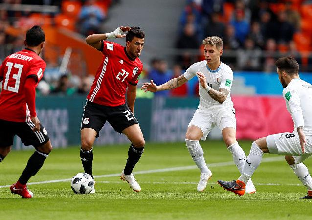 مباراة مصر وأوروغواي في كأس العالم 2018