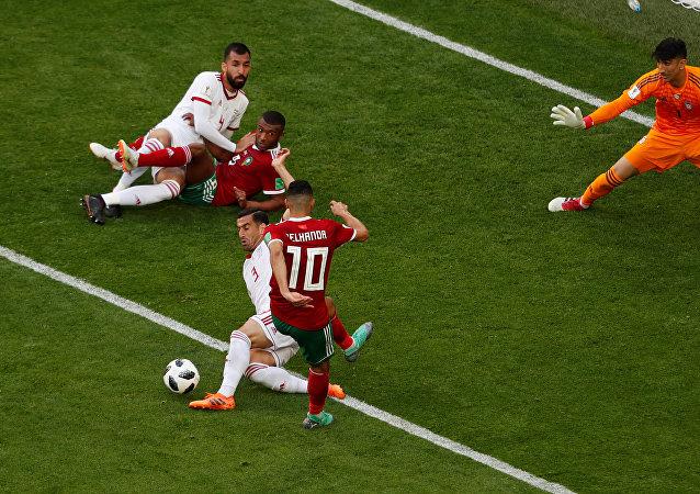 مباراة منتخب المغرب وإيران