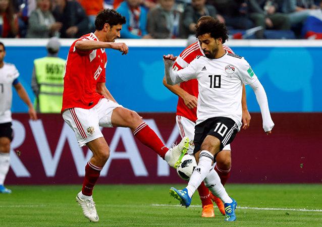 مباراة المنتخب المصري أمام نظيره الروسي، كأس العالم 2018، 19يونيو/حزيران 2018